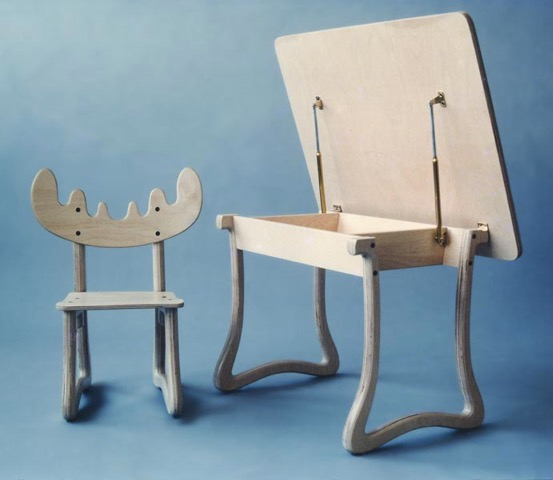Photo of two children's chairs designed by Dane Jensen