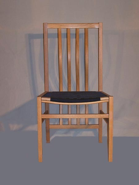 Wooden dining chair designed by Dane F. Jensen