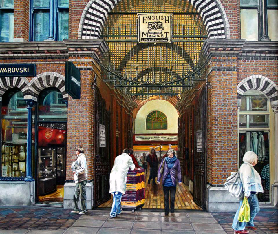 Painting of English Market - Cork