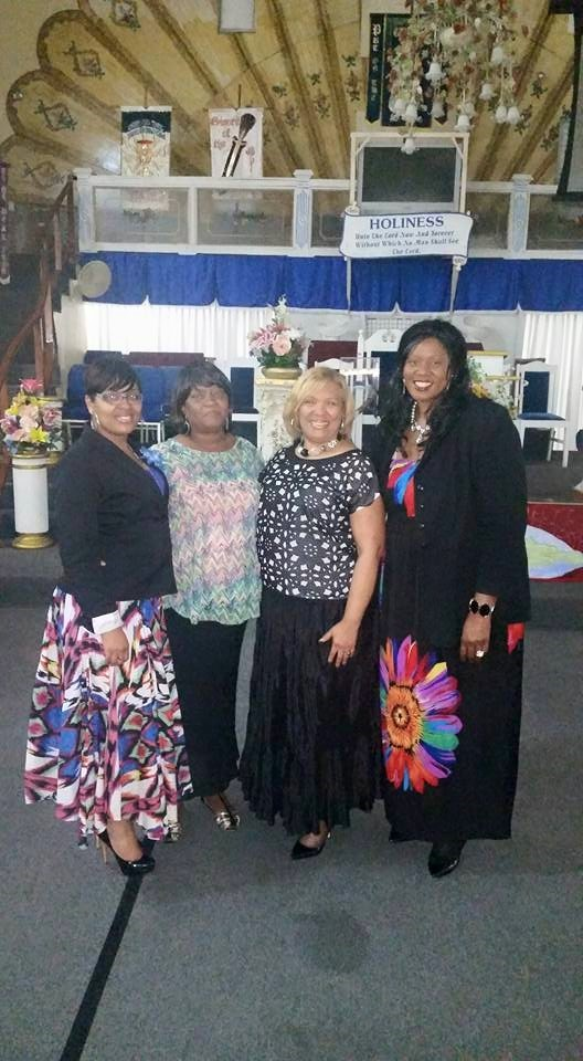 Evangelist Tijuana Lane, Mrs. Juliet Thomas Arthurton, Apostle Patricia Phillips and Dr. Tracy Johnson Photo