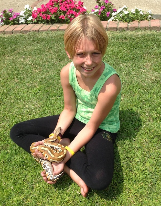 Jenna and her pet snake