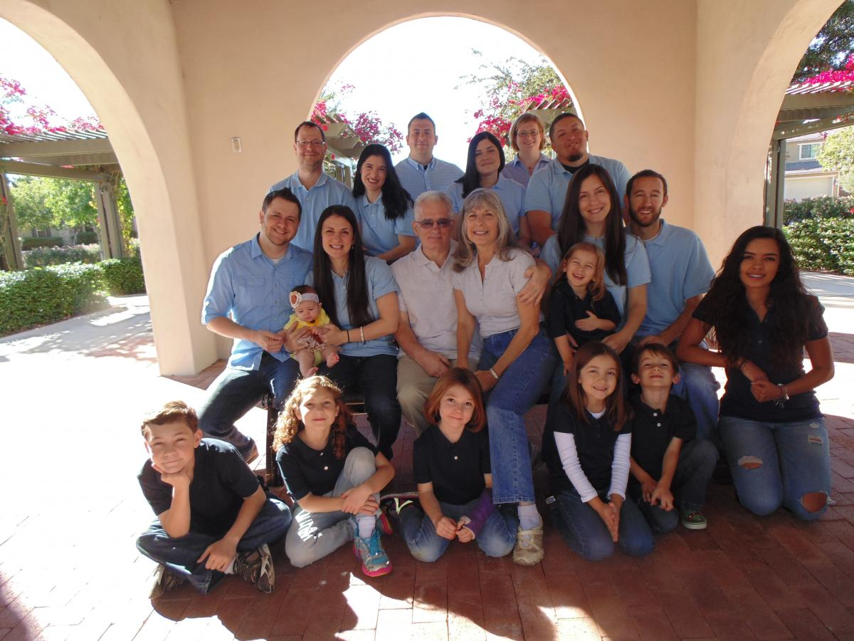 Marie Fostino with Family group shot Thanksgiving 2014