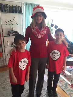 Nancy J. Hammill Cooper Learning Center Read Across America Day pictured from Left Elliott Sikes, Nancy J. Hammill and Liam Gonzalez