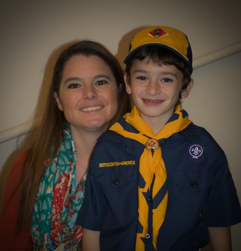 Stacey Cavaglieri and her son Ryan