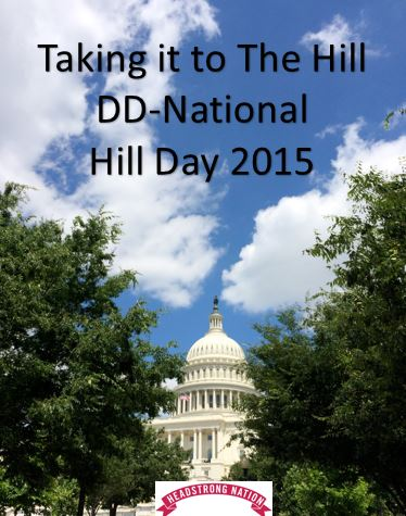 Photo of Us Capitol with text Taking it to the Hill DD-national Hill Day 2015